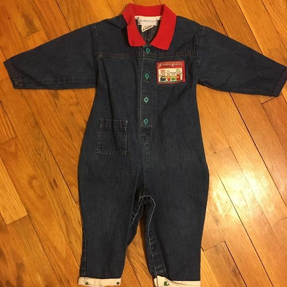f2a0d0037 OshKosh B'gosh One Pieces | Vintage Oshkosh 18m Jean Outfit | Poshmark